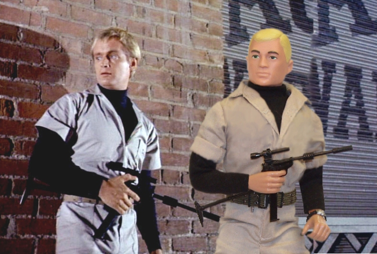 1/6 Scale GI Joe Sized Illya Kuryakin with 1/6 scale U.N.C.L.E. Carbine by Brad Ferguson
