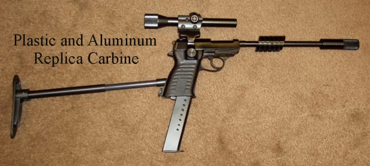 Plastic and aluminum UNCLE carbine