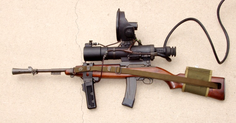 Real M-3 Sniper Rifle With Infrared Night Scope- Inspiration for THRUSH Rifles